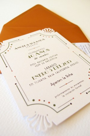Art Deco Anniversary Invitation Lizzy B Loves8 300x450 Art Deco Inspired 40th Anniversary Invitations