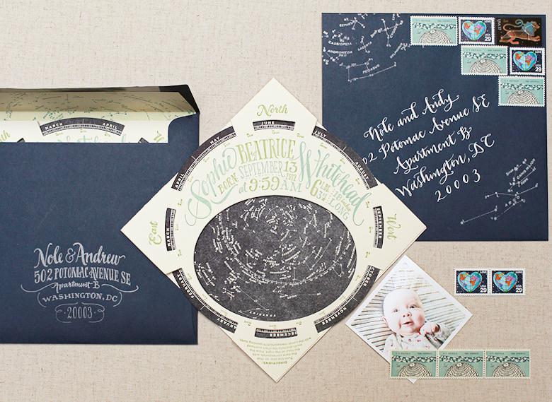 Sophie\u0027s Constellation Starfinder Birth Announcements
