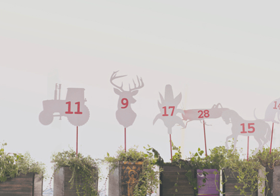 Die Cut Animal Table Numbers Erica Loesing Our Labor of Love Wedding Stationery Inspiration: Animal Motifs