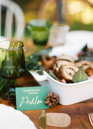 Emerald Wedding Food Labels Julie Song Ink Ryan Ray Photography 300x416 Wedding Stationery Inspiration: Emerald