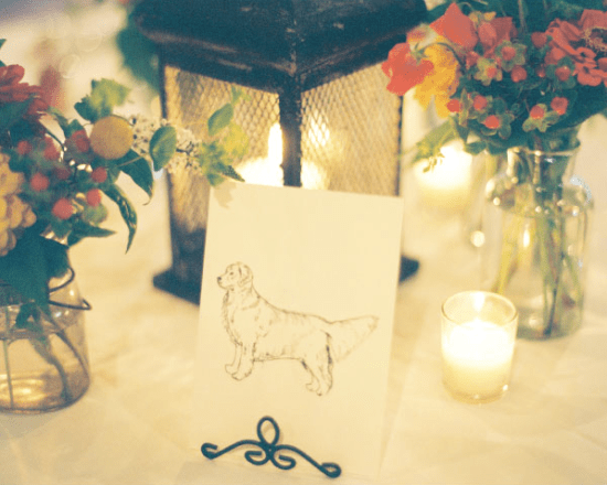 Illustrated Animal Place Cards Kara Dunne Lassod Moon Designs Jen Curtis 550x440 Wedding Stationery Inspiration: Animal Motifs