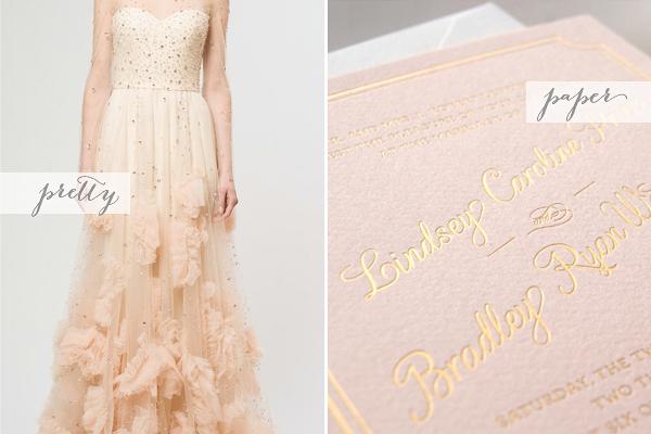 Pink Gold Romance Pretty + Paper