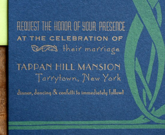 Art Nouveau Letterpress Wedding Invitations Starshaped4 550x450 Sarvenaz + Graigs Art Nouveau Wedding Invitations
