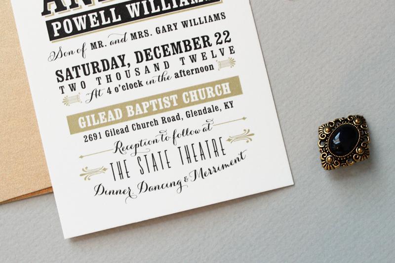 Jessica Andrew39s Vintage Inspired Typography Wedding
