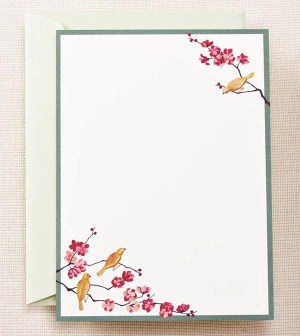 Crane Imprintable Cherry Blossom Invitations 300x336 Seasonal Stationery: Cherry Blossoms
