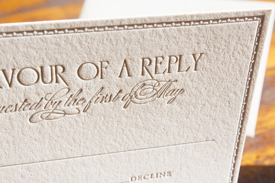 Downton Abbey Inspired Wedding Invitation Lucky Luxe Couture Correspondence5 550x366 Downton Abbey Inspired Wedding Invitations