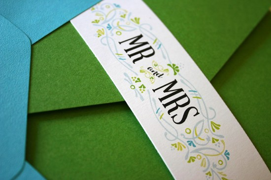 Green Turquoise Garden Party Wedding Invitations Mountain Paper4 550x365 Sarah + Chases Texas Garden Party Wedding Invitations