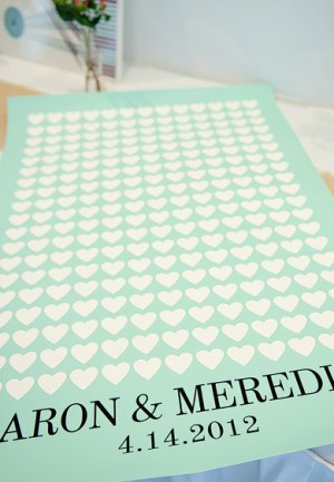 Heart Guest Book Modern Keepsake Untamed Heart Photography1 300x433 Wedding Stationery Inspiration: Hearts
