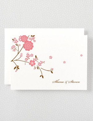 Hello Lucky Cherry Blossom Notecards 300x392 Seasonal Stationery: Cherry Blossoms