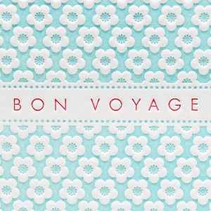 Letterpress Delicacies Cherry Blossom Bon Voyage Card 300x300 Seasonal Stationery: Cherry Blossoms