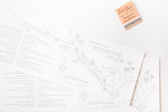 Modern Letterpress Wedding Invitations Mae Mae Paperie8 550x366 Elizabeth + Justins Modern Destination Wedding Invitations