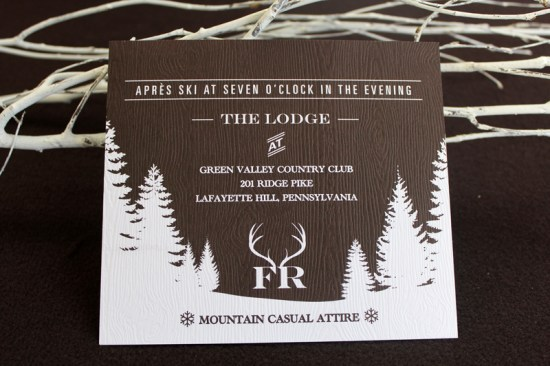 Ski Themed Bar Mitzvah Invitation Le Petite Fleur7 550x366 Fishers Mountain Ski Theme Bar Mitzvah Invitations