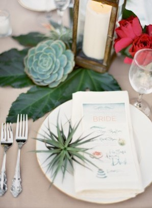 Watercolor Wedding Menus Julie Song Ink Jose Villa Wedding Stationery Inspiration: Colorfully Illustrated Menus