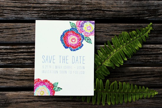 An Lim Wildflower Botanical Wedding Invitations3 550x367 Wildflower Wedding Invitations from An Lim