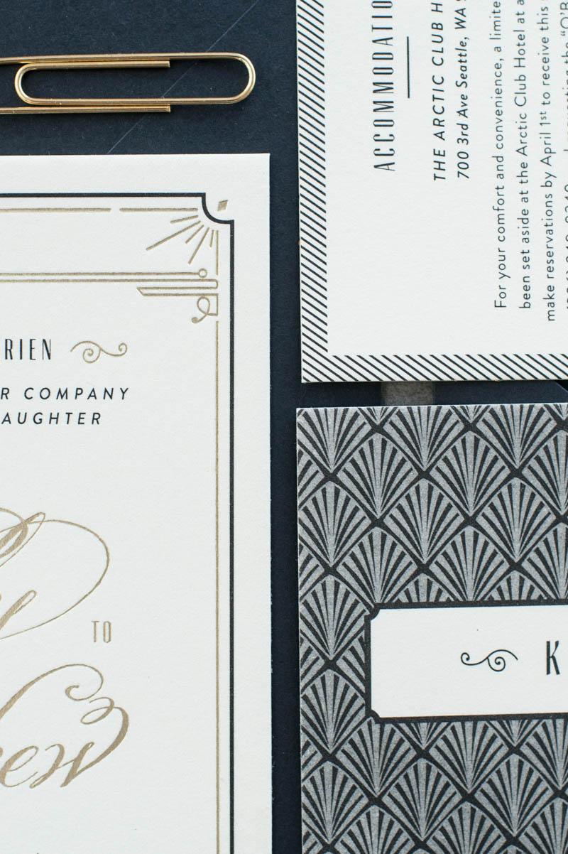 Large Of Art Deco Wedding Invitations