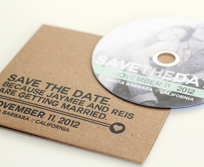 Reis + Jaymee's California DVD Save the Dates