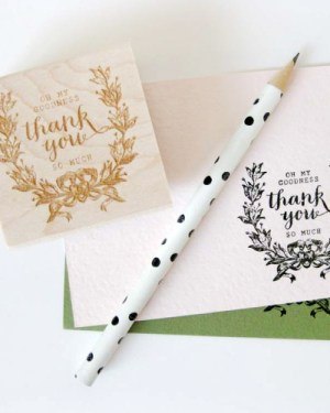 La Happy Thank You Rubber Stamp2 300x375 Quick Pick: la Happy
