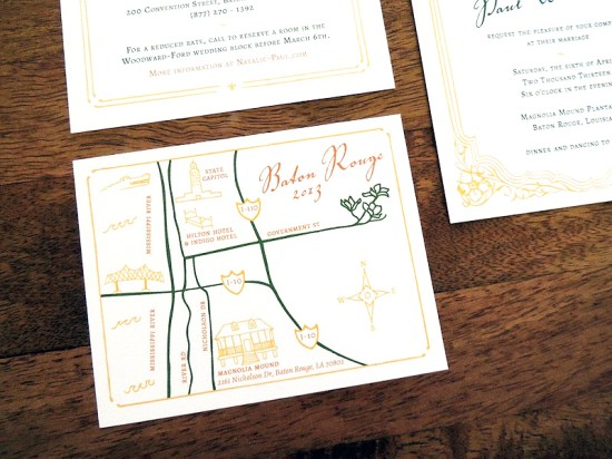 Magnolia Wedding Invitation Suite Harken Press15 550x412 Natalie + Pauls Southern Magnolia Wedding Invitations