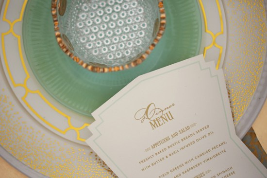 Art Deco Menu Be True Designs Julie Roberts Photography 550x366 Wedding Stationery Inspiration: Art Deco