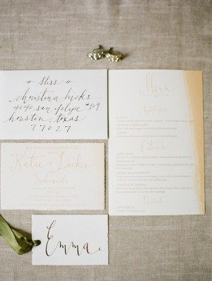 Bridesmaid Luncheon Calligraphy Laura Catherine4 300x395 Katies Rustic Italian Inspired Calligraphy Wedding Stationery