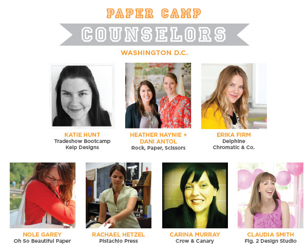 Tradeshow Bootcamp Paper Camp DC Speakers Paper Camp!