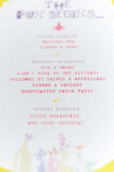 wedding schedule design - Pinarkubkireklamowe