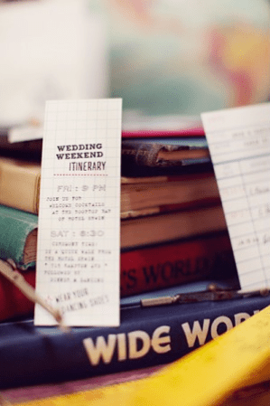 Wedding Weekend Itinerary U Plus U Brandon Kidd Wedding Stationery Inspiration: Day of Itineraries