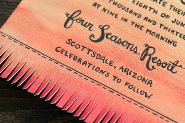 Arizona Desert Sunset Wedding Invitations Lovely Paper Things4 Trisha + Richards Arizona Sunset Wedding Invitations