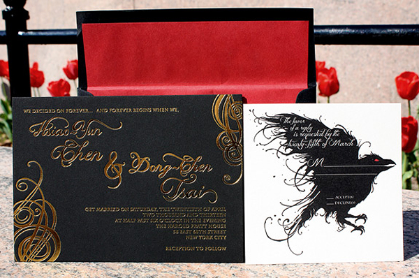 Game of Thrones Wedding Invitations PostScript Brooklyn3 Tony + Hsiaos Game of Thrones Wedding Invitations