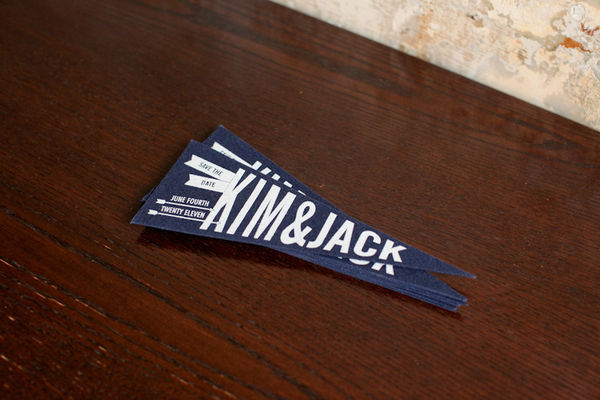 Navy Pennant Flags Melangerie Inc Jen Huang Photography Wedding Stationery Inspiration: Navy