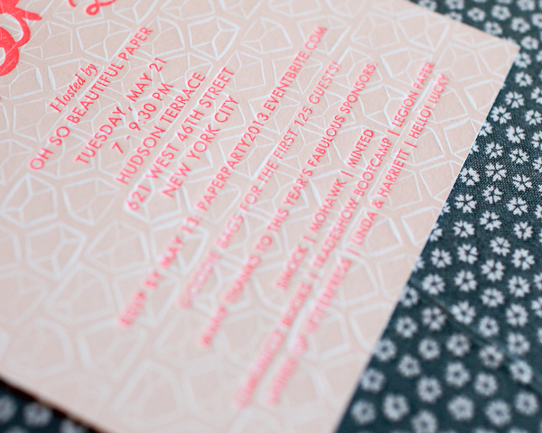 Paper Party 2013 Invitations Oh So Beautiful Paper Linda Harriett Smock Mohawk 23 Paper Party 2013: The Invitations!