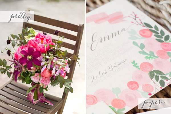 Pink Floral Wedding Inspiration Pretty + Paper