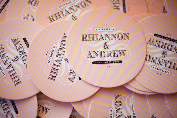 Wedding Coasters Papertalk Press Amanda Wilcher Photographers Wedding Stationery Inspiration: Coasters