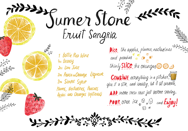 OSBP Signature Cocktail Recipe Stone Fruit Sangria Dinara Mirtalipova Friday Happy Hour: Summer Stone Fruit Sangria