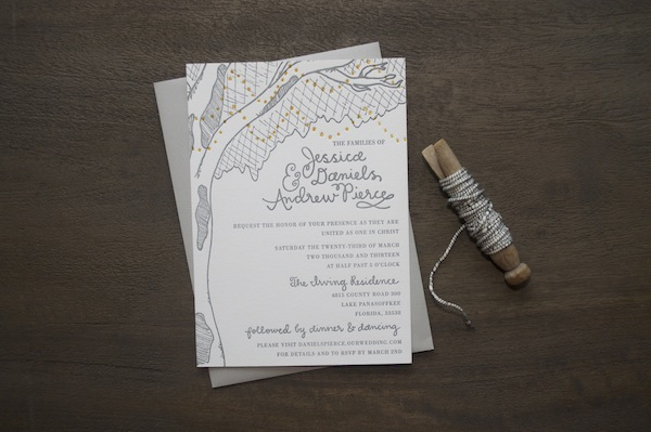 Weddinginvite 9TH LETTER PRESS: Jessie + Andrews Rustic Wedding Invitations