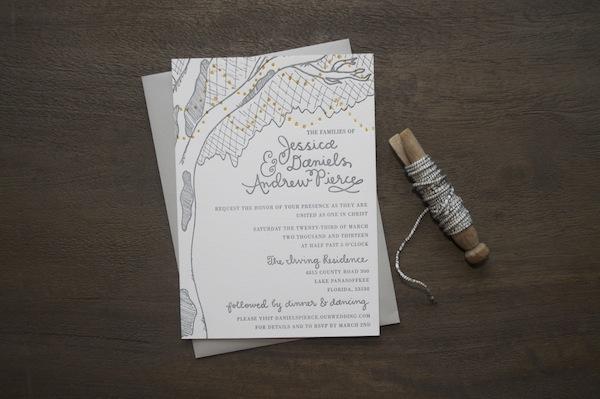 Weddinginvite 9TH LETTER PRESS: Jessie + Andrews Rustic Wedding Invitations