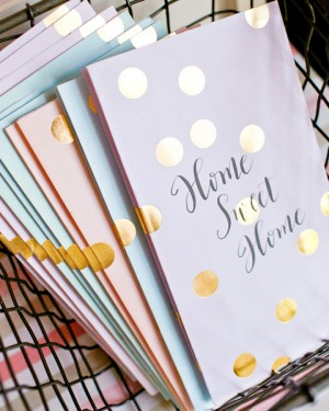 Calligraphed Polka Dot Treat Bags Meant to Be Calligraphy Nole Garey Wedding Stationery Inspiration: Treat Bags