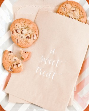 Calligraphed Treat Bags Meant to Be Calligraphy Nole Garey Wedding Stationery Inspiration: Treat Bags