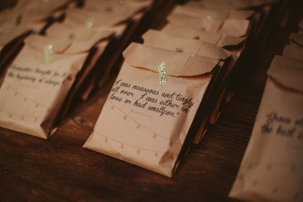 Custom Quote Treat Bags Jack and Till Arrow and Apple Wedding Stationery Inspiration: Treat Bags