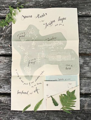 Nature Inspired Wedding Invitations Belinda Love Lee2 300x396 Jess + Sims Illustrated Nature Inspired Wedding Invitations