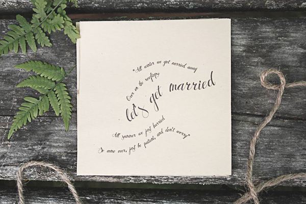 Nature Inspired Wedding Invitations Belinda Love Lee4 Jess + Sims Illustrated Nature Inspired Wedding Invitations