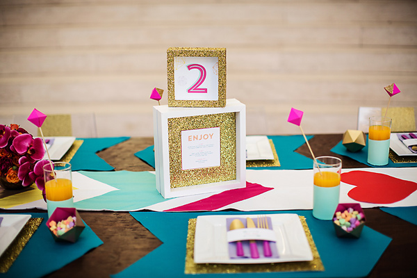 Neon Table Numbers Miss Pickles Press Izzy Hudgins Wedding Stationery Inspiration: Neon