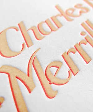 Ombre Letterpress Wedding Invitations Thomas Printers5b 300x360 Charles + Merrills Ombre Letterpress Wedding Invitations