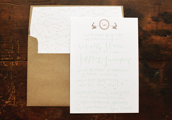 Calligraphy Farmette Wedding Invitations La Happy Molly + Jeffs Rustic Calligraphy Wedding Invitations
