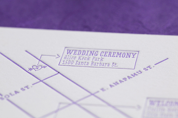 Purple Ombre Letterpress Wedding Invitations Cristina Pandol8 Jessica + Scotts Purple Ombre Letterpress Wedding Invitations
