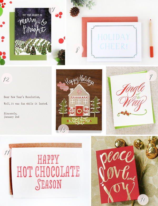 2013 Holiday Cards Part6 Seasonal Stationery: 2013 Holiday Cards, Part 3