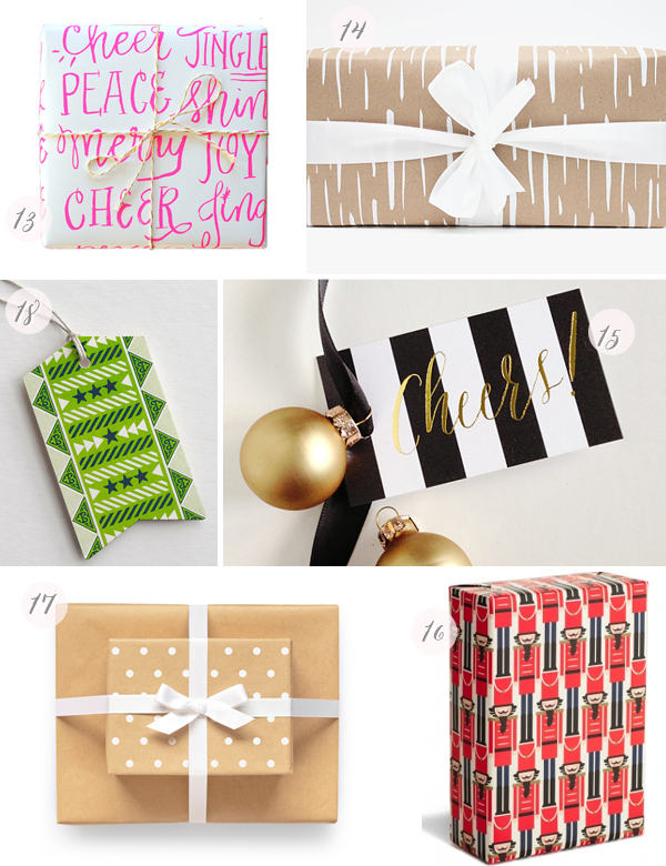 2013 Holiday Gift Wrap Part3 Seasonal Stationery: Holiday Gift Wrap + Tags