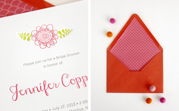 Floral Letterpress Bridal Shower Invitations Rafftruck Designs3 Jennifers Floral Letterpress Bridal Shower Invitations