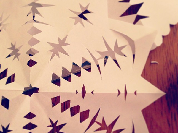 OSBP Paper Snowflakes Happy Weekend!