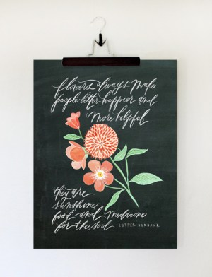 Oh My Deer Hand Lettered Art Floral 300x392 Quick Pick: Oh My Deer